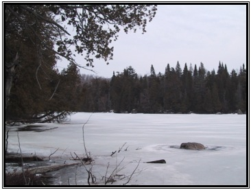 Lac-Balsac-VUE LAC HIVER